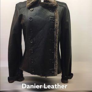 Beautiful Danier Leather Military Style Jacket EUC